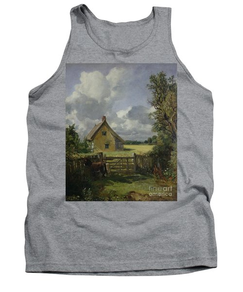 Cottage In A Cornfield Tank Top by John Constable