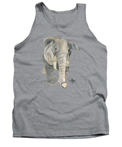 Cuddly Elephant Tank Top by Angeles M Pomata