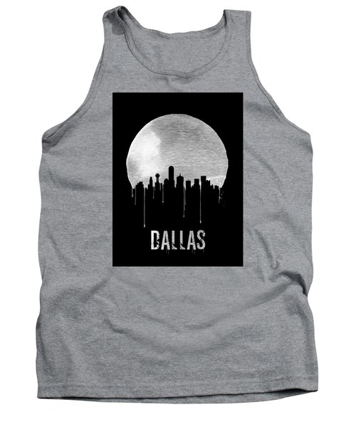 Dallas Skyline Black Tank Top by Naxart Studio