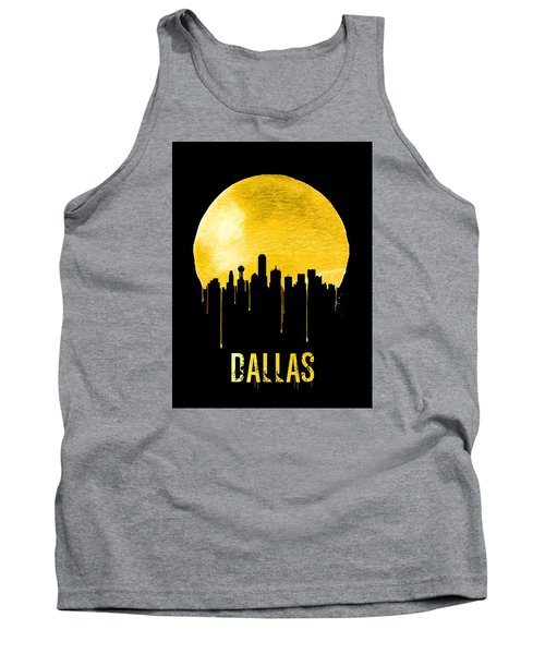 Dallas Skyline Yellow Tank Top by Naxart Studio