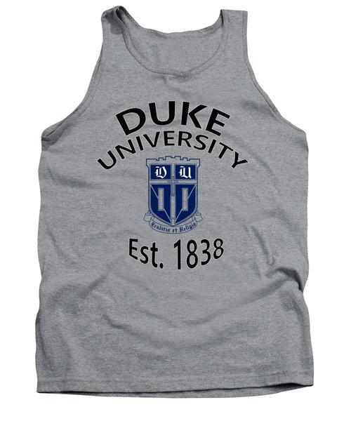 Duke University Est 1838 Tank Top by Movie Poster Prints