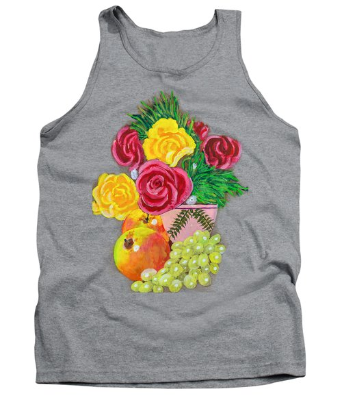 Fruit Petals Tank Top by Joe Leist -digitally mastered by- Erich Grant