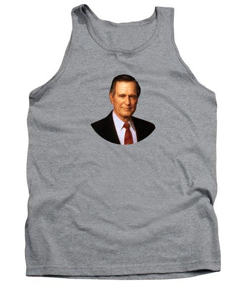 George Hw Bush Presidential Portrait Tank Top by War Is Hell Store