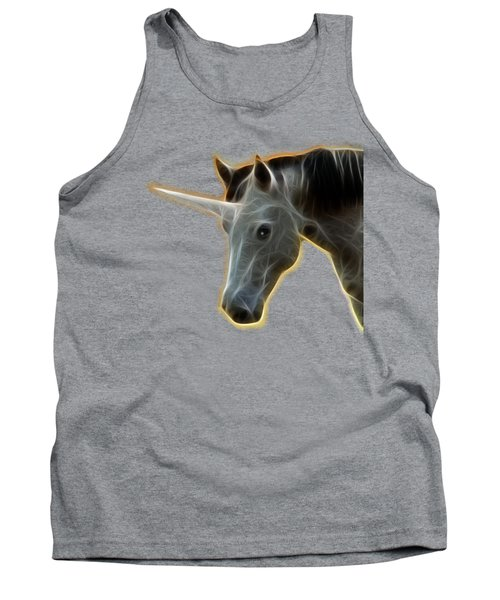 Glowing Unicorn Tank Top by Shane Bechler