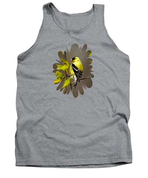 Goldfinch Suspended In Song Tank Top by Christina Rollo