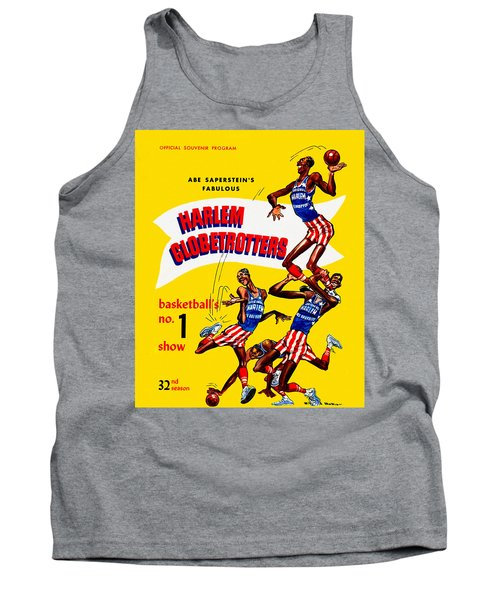 Harlem Globetrotters Vintage Program 32nd Season Tank Top by Big 88 Artworks
