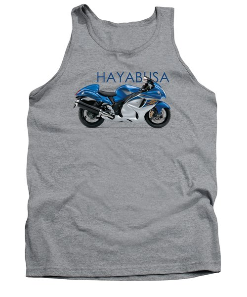 Hayabusa In Blue Tank Top by Mark Rogan