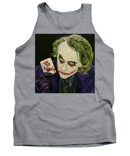 Heath Ledger The Joker Tank Top by David Peninger