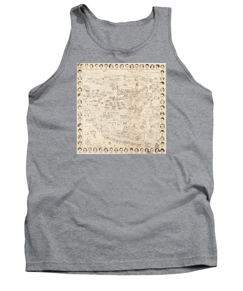 Hollywood Map To The Stars 1937 Tank Top by Don Boggs