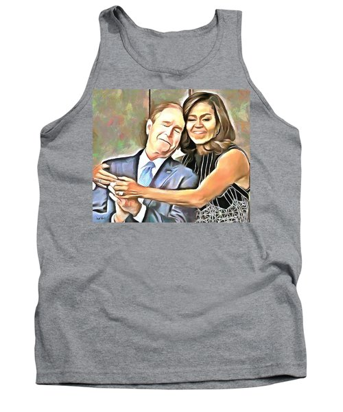 Imagine All The People Tank Top by Wayne Pascall