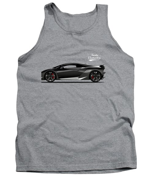 Lamborghini Sesto Elemento Tank Top by Mark Rogan