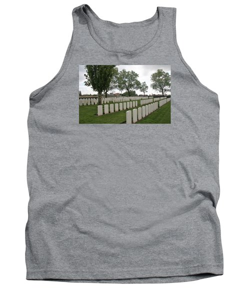 Tank Top featuring the photograph Messines Ridge British Cemetery by Travel Pics