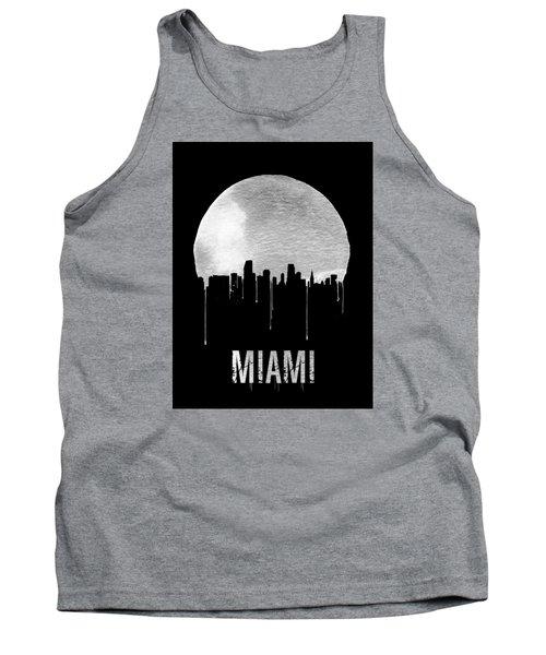 Miami Skyline Black Tank Top by Naxart Studio