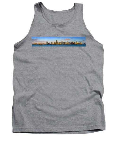 Miami Skyline In Morning Daytime Panorama Tank Top by Jon Holiday
