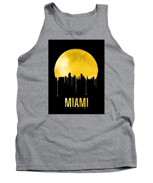 Miami Skyline Yellow Tank Top by Naxart Studio