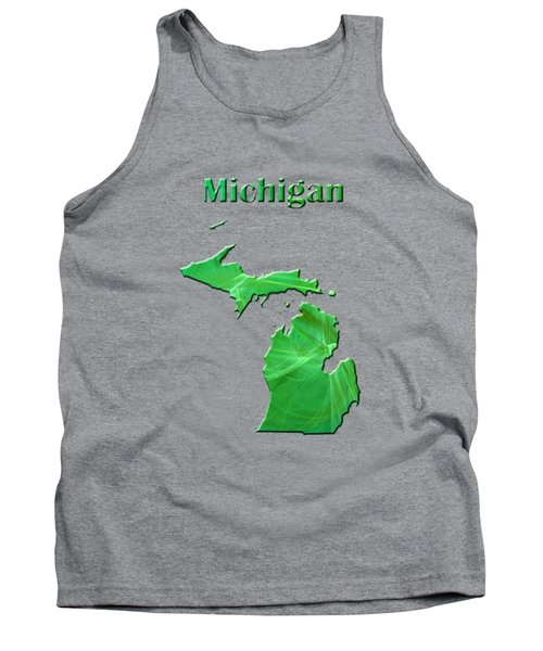 Michigan Map Tank Top by Roger Wedegis