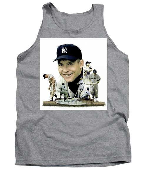 Mickey Mantle Legacy, II  Tank Top by Iconic Images Art Gallery David Pucciarelli