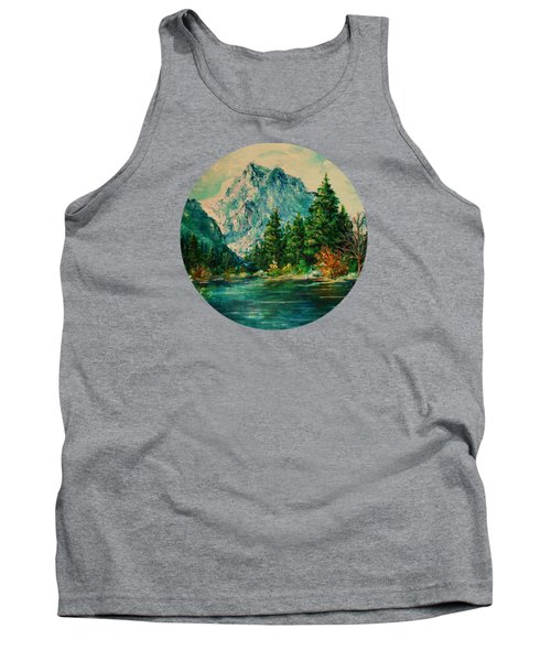 Mountain Lake Tank Top by Mary Wolf