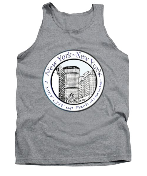 I Met Life Up Park Avenue Nyc Tank Top by James Lewis Hamilton
