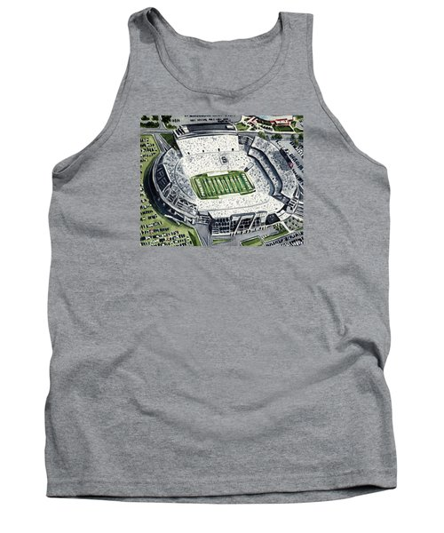 Penn State Beaver Stadium Whiteout Game University Psu Nittany Lions Joe Paterno Tank Top by Laura Row