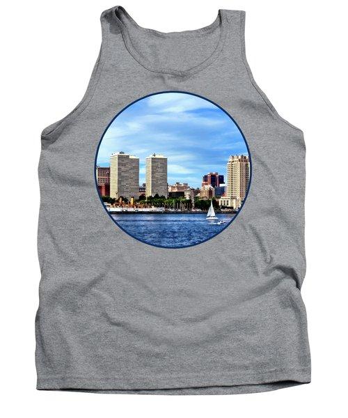 Philadelphia Pa Skyline Tank Top by Susan Savad