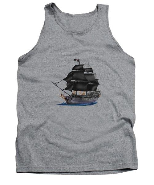 Pirate Ship At Sunset Tank Top by Glenn Holbrook