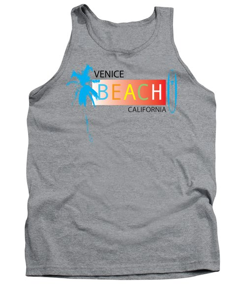Venice Beach California T-shirts And More Tank Top by K D Graves