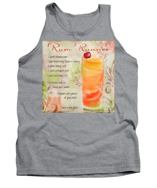 Rum Runner Mixed Cocktail Recipe Sign Tank Top by Mindy Sommers