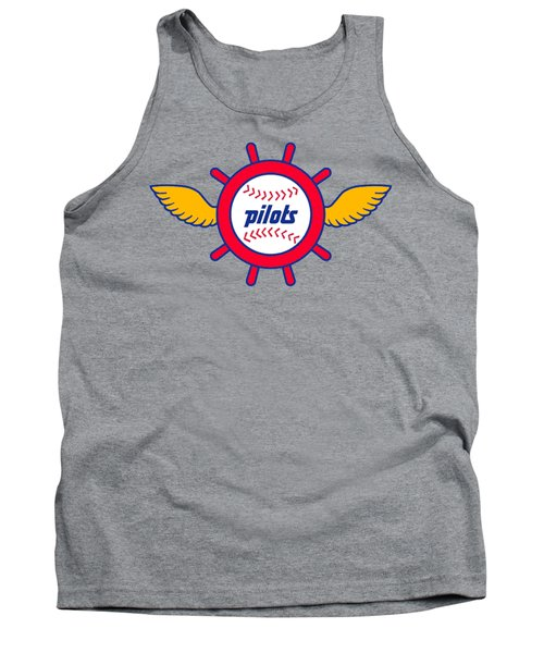 Seattle Pilots Retro Logo Tank Top by Spencer McKain