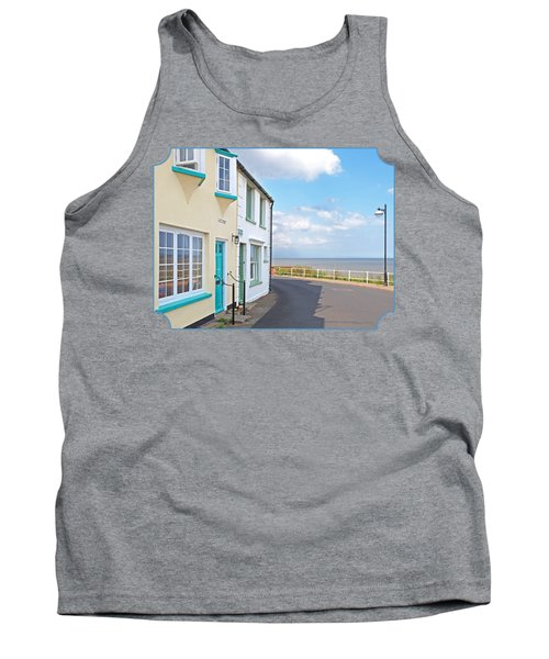 Sunny Outlook - Southwold Seafront Tank Top by Gill Billington