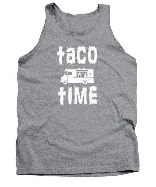 Taco Time Food Truck Tee Tank Top by Edward Fielding