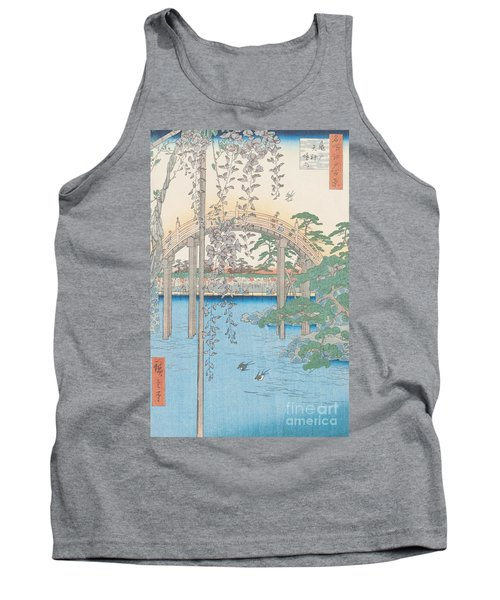 The Bridge With Wisteria Tank Top by Hiroshige