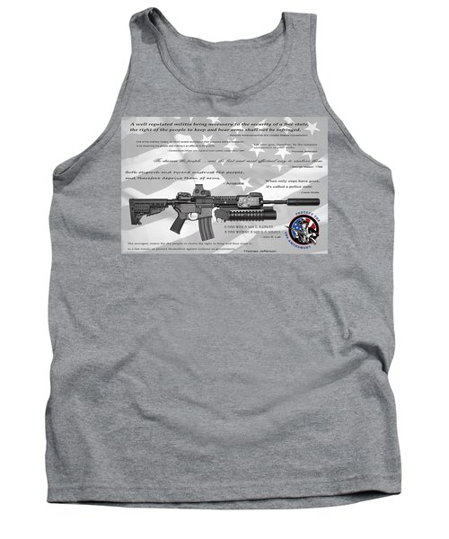 The Right To Bear Arms Tank Top by Daniel Hagerman
