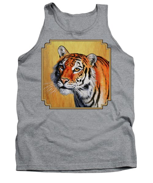 Tiger Portrait Tank Top by Crista Forest