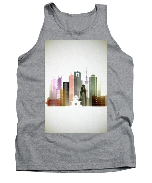 Tokyo  Cityscape Tank Top by Dim Dom