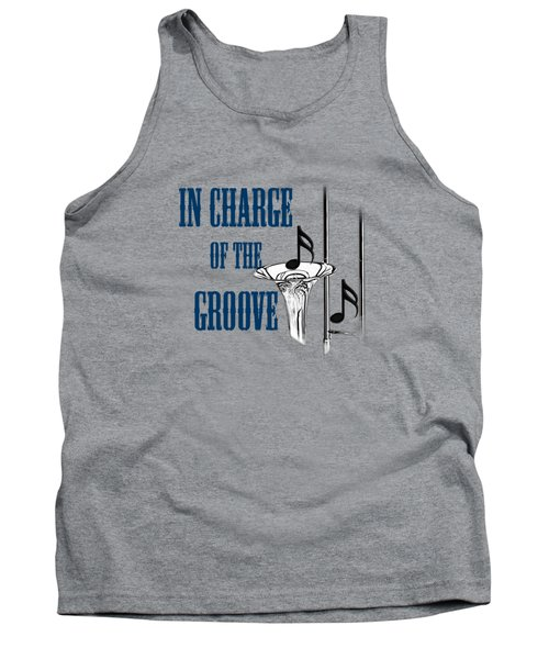 Trombones In Charge Of The Groove 5533.02 Tank Top by M K  Miller