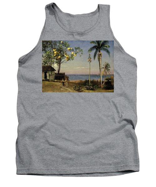 Tropical Scene Tank Top by Albert Bierstadt