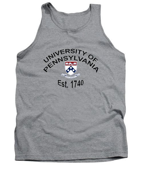 University Of Pennsylvania Est 1740 Tank Top by Movie Poster Prints