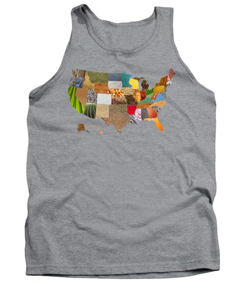 Vibrant Textures Of The United States Tank Top by Design Turnpike