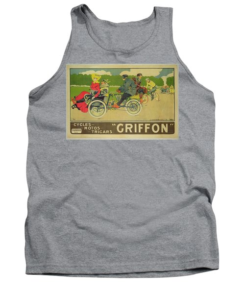 Vintage Poster Bicycle Advertisement Tank Top by Walter Thor