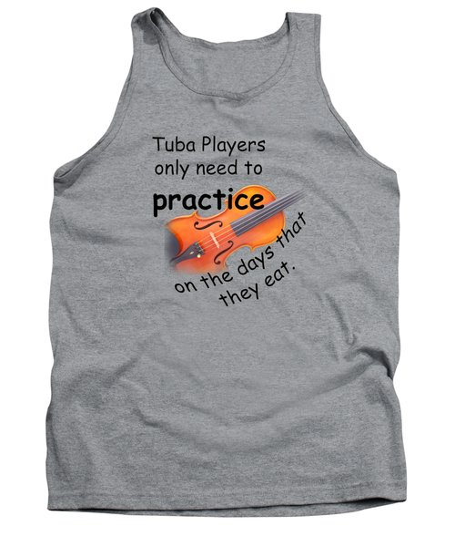 Violin Viola Practice When You Eat For T Shirts  Or Posters 4832.02 Tank Top by M K  Miller