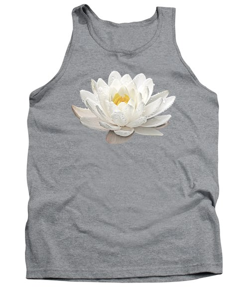 Water Lily Whirlpool Tank Top by Gill Billington