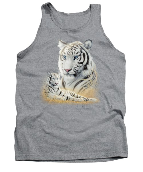 White Tiger Tank Top by Lucie Bilodeau