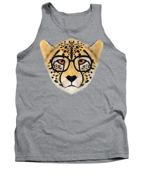 Wild Cheetah With Glasses  Tank Top by David Ardil