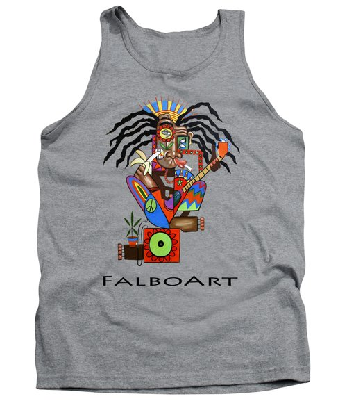 Ya Man 2 No Steel Drums Tank Top by Anthony Falbo