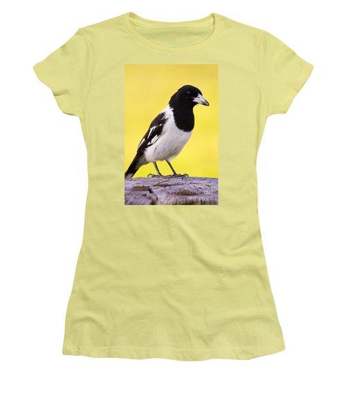 Fencepost Magpie Women's T-Shirt (Junior Cut) by Jorgo Photography - Wall Art Gallery