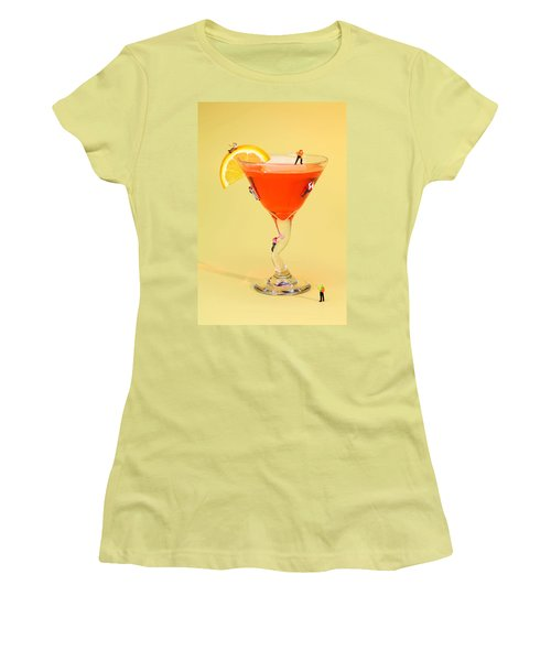 Climbing On Red Wine Cup Women's T-Shirt (Junior Cut) by Paul Ge