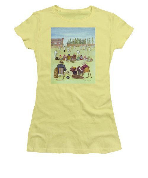 Cricket On The Green, 1987 Watercolour On Paper Women's T-Shirt (Junior Cut) by Gillian Lawson