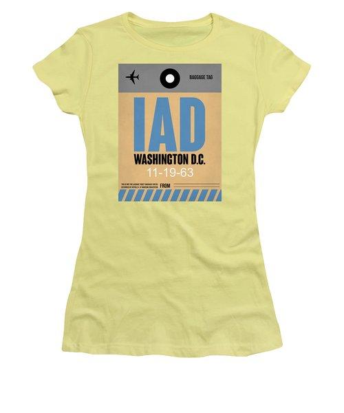 Washington D.c. Airport Poster 3 Women's T-Shirt (Junior Cut) by Naxart Studio