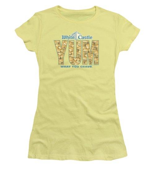 White Castle - Yum Women's T-Shirt (Junior Cut) by Brand A
